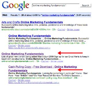 Online Marketing Fundamentals Google Listing 23 March